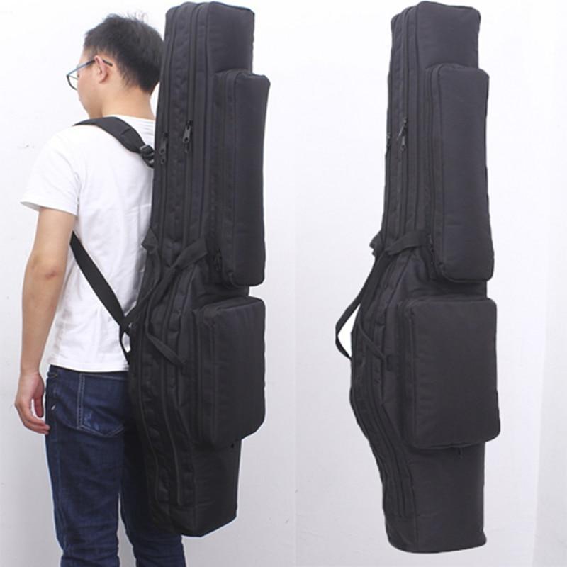 Tactical Dual Rifle Square Bag Oxford Military Backpack Padded Gun Carry Storage Bag Airsoft Gun Case