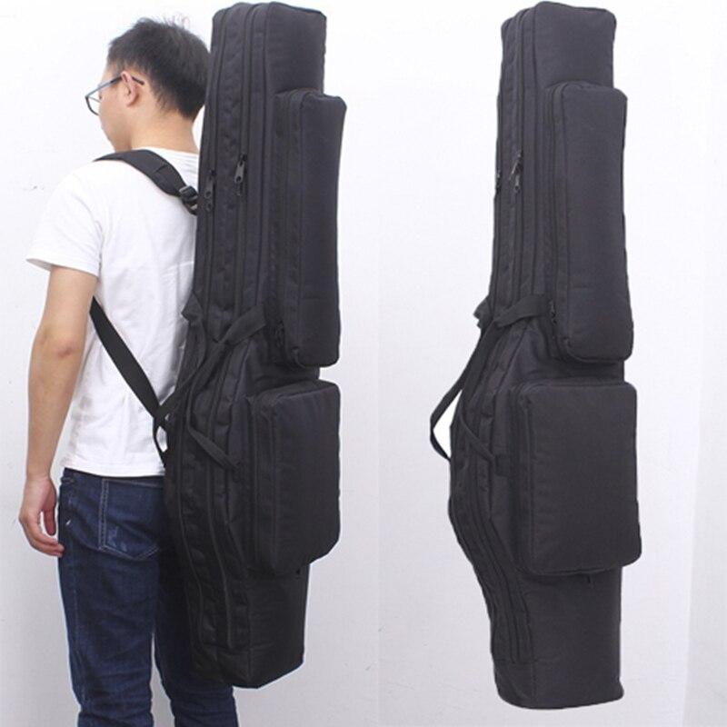 Tático duplo rifle quadrado saco oxford militar mochila acolchoado arma transportar saco de armazenamento airsoft arma caso bolsa para a caça ao ar livre