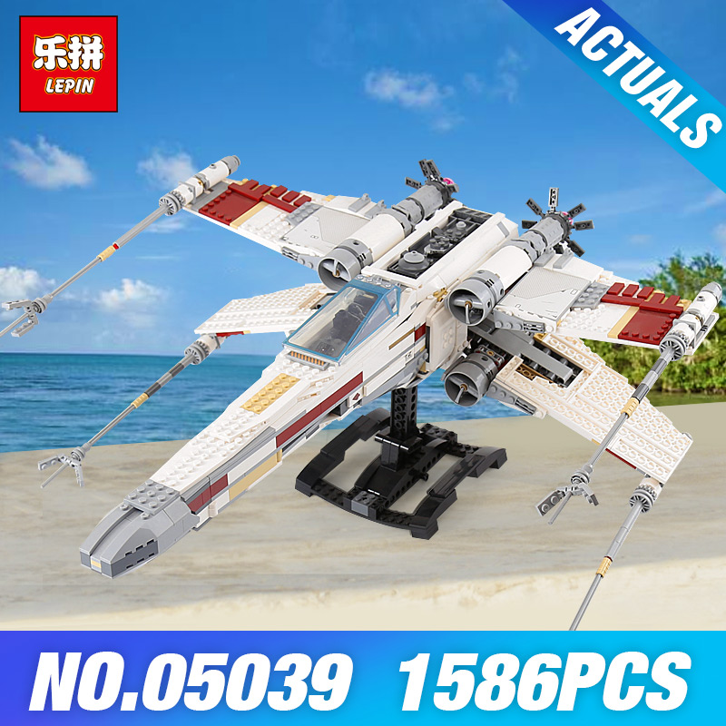 Lepin 05039 Star Plan 10240 Red Five X-wing Star fighter Wars Model Building Set Blocks Bricks Children Toys Educational Gifts 5pcs lot fsbs15ch60f