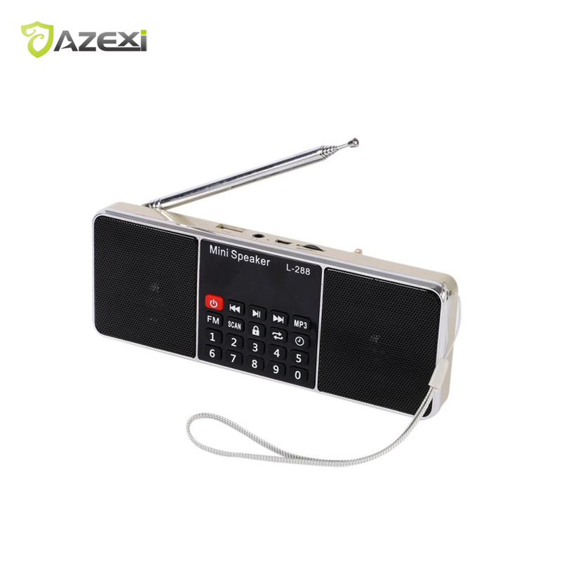 L-288 Mini FM Radio Digital Tragbare Lautsprecher MP3 Player Receiver Stereo Lautsprecher mit Lcd-bildschirm Tf-karte AUX USB