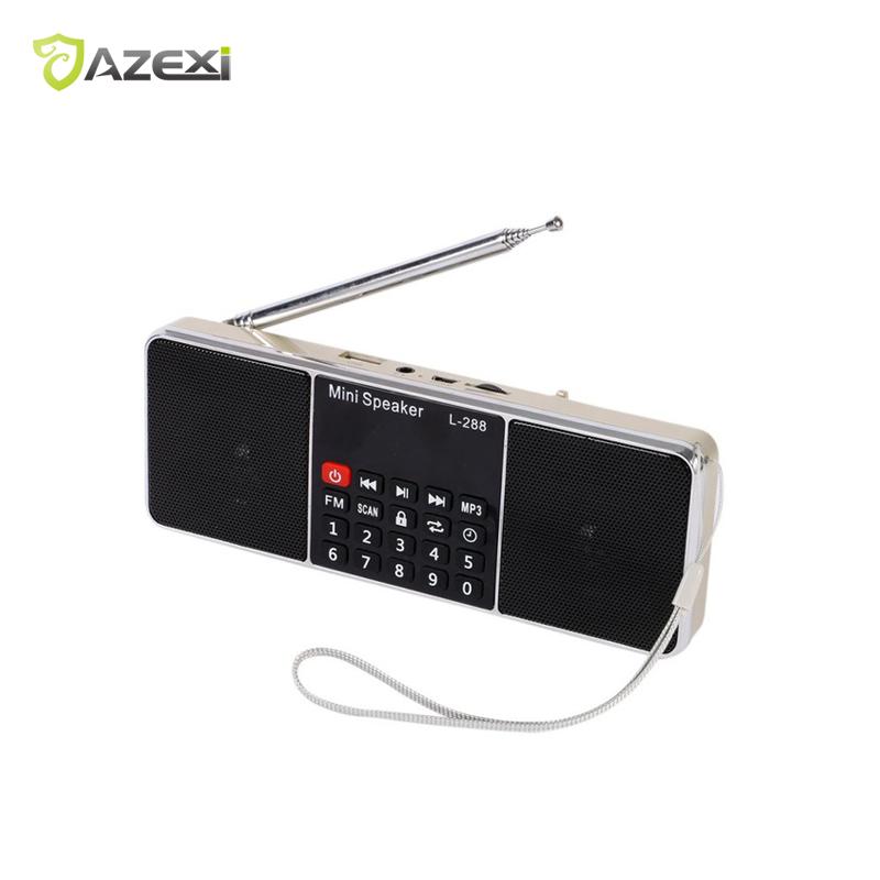 L-288 Mini FM Radio Lautsprecher Tragbare Wiederaufladbare Stereo Lcd-bildschirm Tf-karte USB Disk MP3 Musik-player Lautsprecher