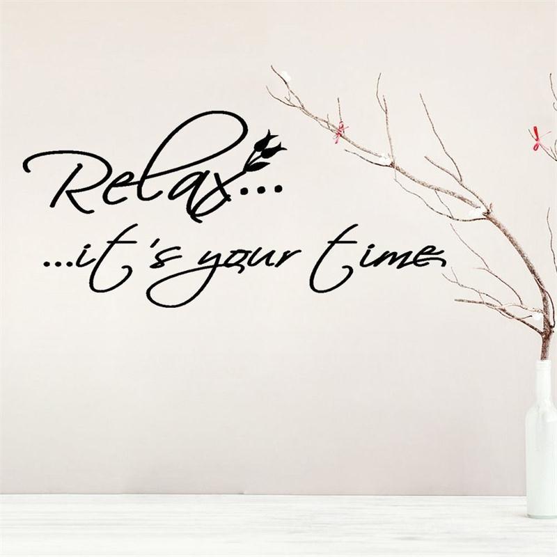 Us 2 1 20 Off Entspannen Es Ist Ihre Zeit Vinyl Wand Zitate Schriftzug Worte Sagen Wohnzimmer Dekorative Aufkleber Aufkleber Wandbild Home Decor
