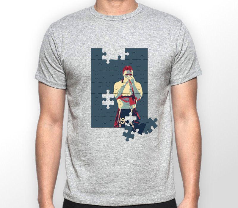 2018 New Print T Shirt Mens Short Sleeve Cotton Tees Footballer Casuals England Retro Awaydays Originals Top Premier League Tee