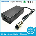 CE Rohs FCC 29.4V2A 29.4V3A 29.4V4A Lithium Battery Charger for 7X3.7V Li-ion Lifepo4 Battery Pack