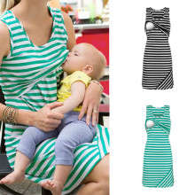 Платья для беременных, кормящих, кормящих грудью, одежда, лето, без рукавов, повседневные, свободные, короткие, для женщин, кормящих, топы, платье, плюс размер