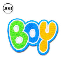 Letter Boy 5.5x4cm Embroidered Patches for Clothing Iron on Clothes Patch Children DIY Sew on Applications Applique Sewing girl 6x4cm small embroidered patches for clothing iron on clothes patch children diy sew on applications applique sewing cartoon