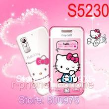 """Débloqué Original SAMSUNG S5230 bonjour kitty S5230c 2G GSM téléphone portable 3.0 """"3MP écran tactile remis à neuf téléphone portable"""