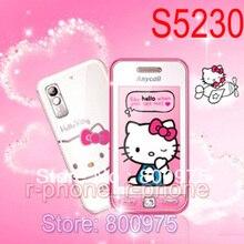 """ปลดล็อก SAMSUNG S5230 Hello Kitty S5230c 2G GSM โทรศัพท์มือถือ 3.0 """"3MP Touchscreen Refurbished โทรศัพท์มือถือ"""