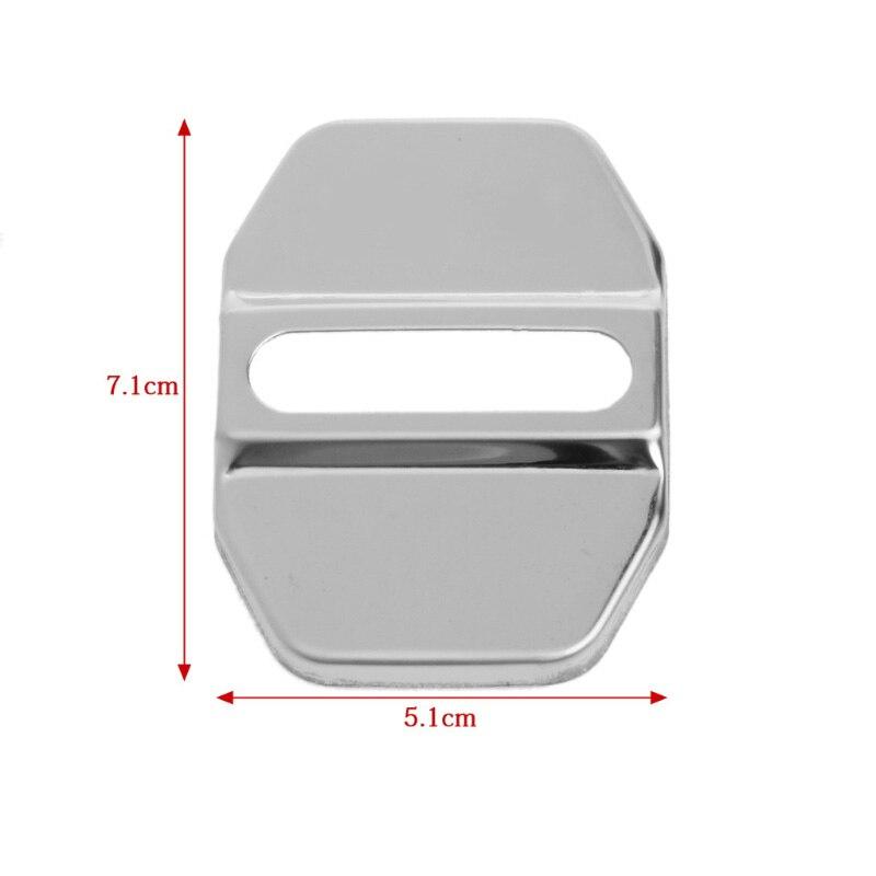 1Pc Stainless Steel Car Door Lock Cover Decor Sticker For Benz E C E260L GLK ML GLA