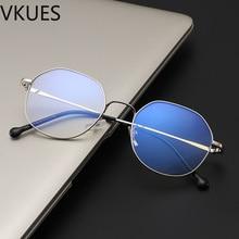 VKUES Novo Anti Luz Azul Óculos Retro Moldura de Metal Irregular Azul Luz  de Bloqueio de 7bc0e6351e