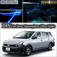 NOVOVISU For Nissan AD Van Y12 interior Ambient Light Tuning Atmosphere Fiber Optic Band Lights Inside Door Panel illumination