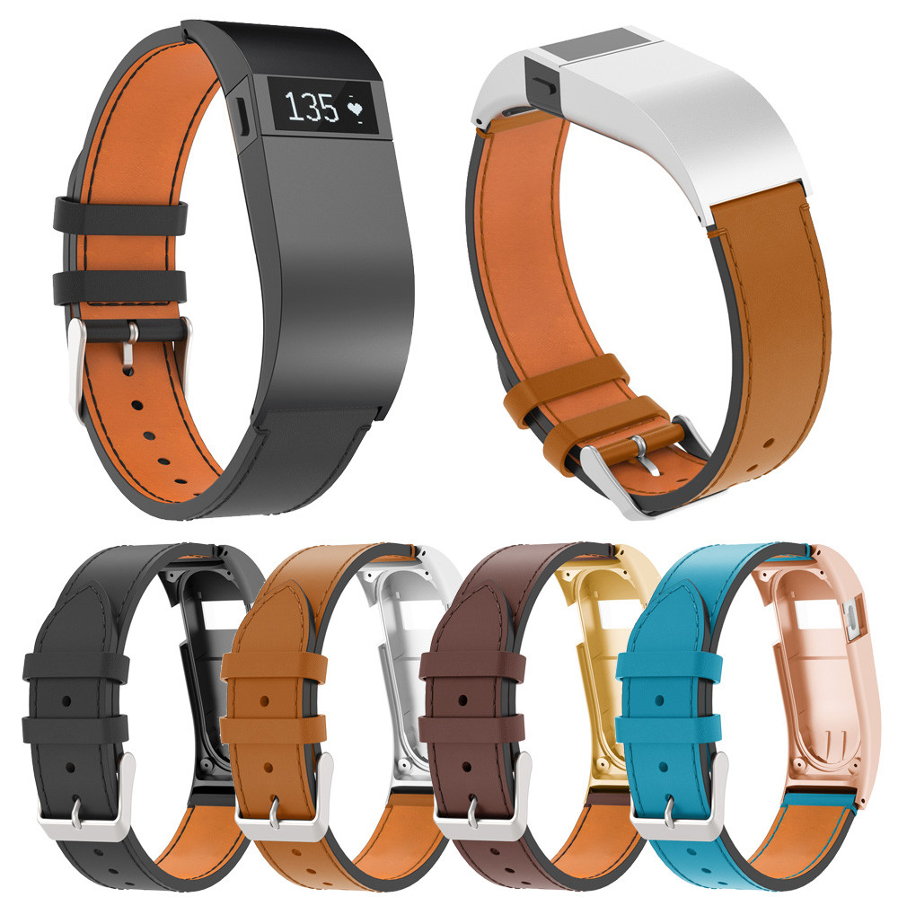 Wrist Band Strap For Fitbit Charge HR Luxury Leather Replacement Wrist Band Strap With Case For Fitbit Charge HR O.24