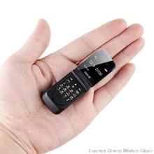 Мини Чехол-книжка для мобильного телефона LONG-CZ J9 0,66 «маленький сотовый телефон Беспроводной, Bluetooth, FM радио Magic голосовой хендсфри наушник для детей