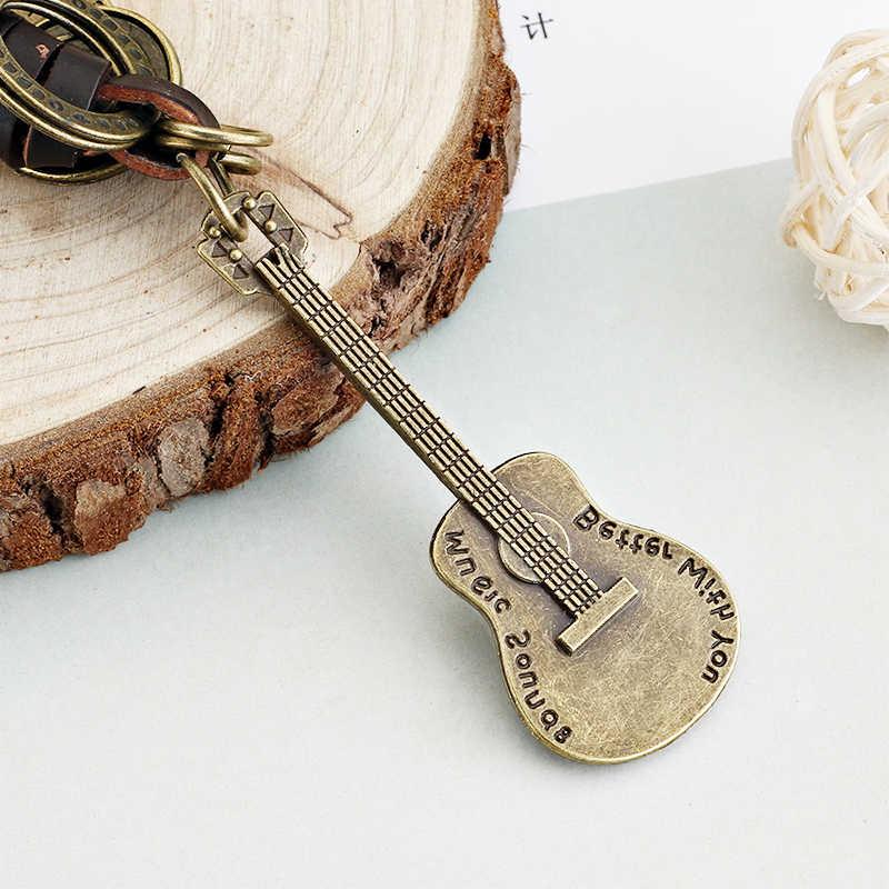 Гитара подвеска кожаный брелок Брелоки для ключей ключи от машины аксессуары брелок на сумку