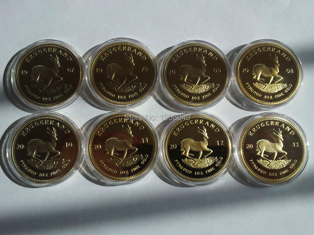 Free Shipping 8x Dated 1oz Krugerrand South Africa Coins