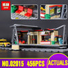 Lepin 02015 City Trains Train Station With Rail Track Taxi 456Pcs Building Block Set Model Brick
