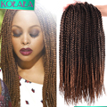 24 roots Ombre Crochet small box Braiding Black Brown Tiny Box Braids Hair 18 Inch Braid Extensions Hairstyles for Black Women