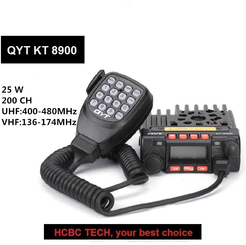 QYT KT8900 Mini Car Radio 25W 136-174MHz 400-480Mhz Dual Band Ham Transceiver vehicle mounted QYT-8900 KT-8900 QYT8900QYT KT8900 Mini Car Radio 25W 136-174MHz 400-480Mhz Dual Band Ham Transceiver vehicle mounted QYT-8900 KT-8900 QYT8900