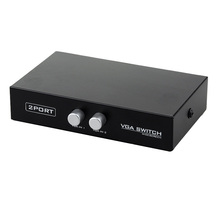 2-Port VGA Switch Video Audio Switcher Box 2 In 1 Out For PC or Monitor Sharing