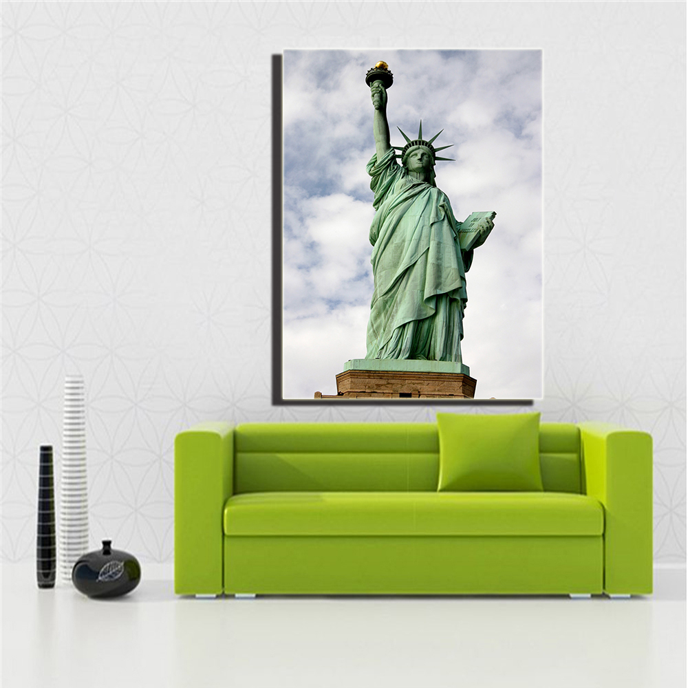 Modern Canvas Painting Print Frameless Statue of Liberty Canvas Art Home Decoration Modular Picture for Living Room Decor