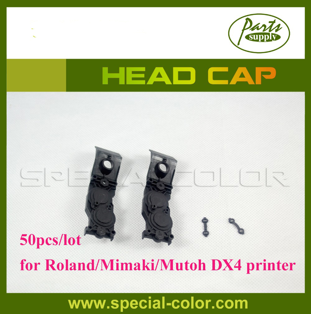 Low Price! 50pcs/lot Roland/Mimaki/Mutoh DX4 Solvent Head Cap Manifold