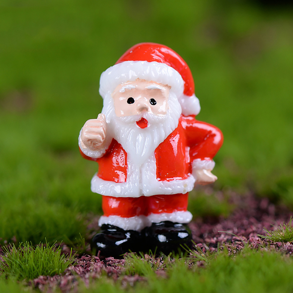 3 Pcs Mini Christmas Santa Claus Snowman Ornaments Home Garden Decoration Gift in Figurines Miniatures from Home Garden
