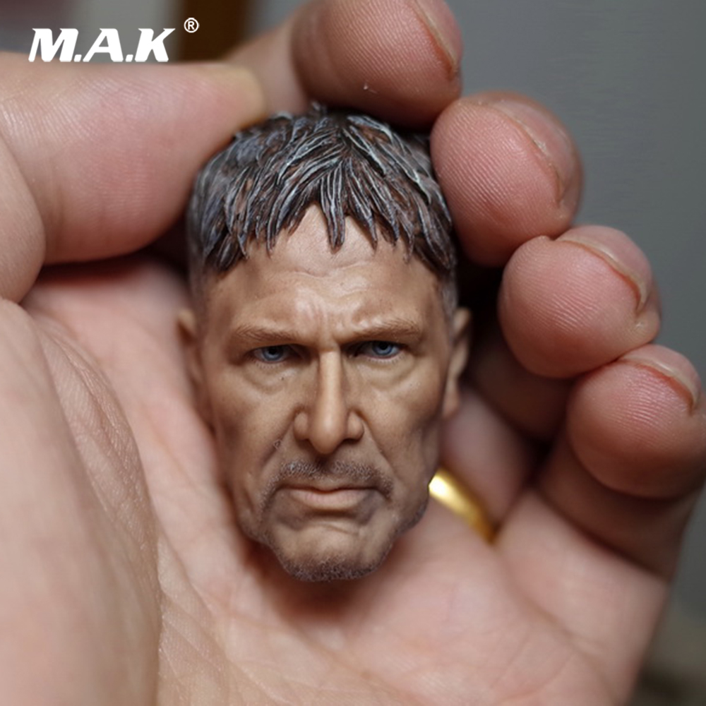 1:6 Scale Male Head Sculpt Harrison Ford Blade Runner 2049 Rick Head Carved for 12 Male Action Figure Doll Accessory цена