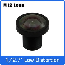 3Megapixel Fixed 1/2.7 inch 3mm Low Distortion Lens For HD 1080P IP Camera AHD CCTV Camera Free Shipping
