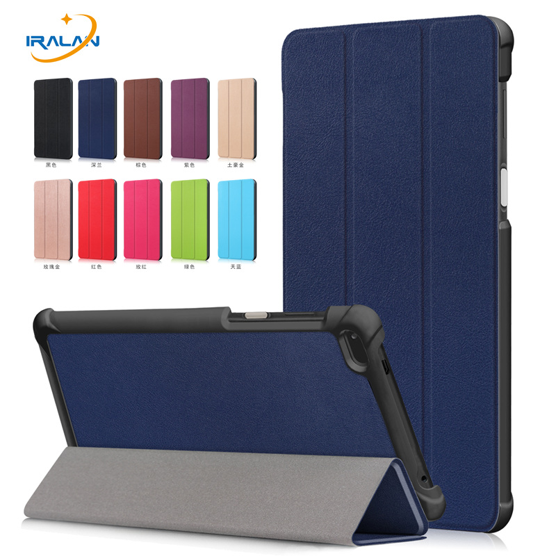 PU Leather Flip Stand <font><b>Case</b></font> <font><b>For</b></font> <font><b>Lenovo</b></font> <font><b>Tab</b></font> <font><b>7</b></font>/<font><b>Tab</b></font> 4 <font><b>7</b></font>. 0 TB-7504F TB-7504N TB-<font><b>7504X</b></font> <font><b>Tablet</b></font> Cover Capa Funda+Screen film+Stylus pen image