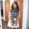 Женская мода Мягкая Длинный Шарф Большой Печати Шали Обруча Qiange Птиц Шарфы Новый Стиль Бесплатная Доставка
