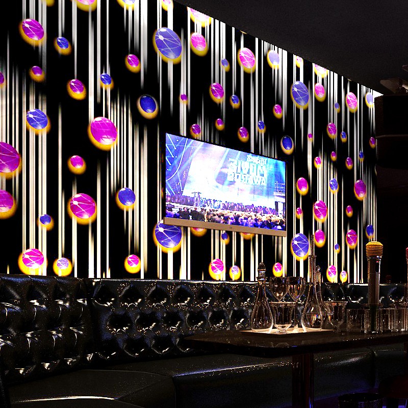 KTV 3D stereo wallpaper personalized ball fashion Hotel Der Bar ballroom box theme room wallpaper blue black red morden large mural wallpaper wallpaper theme hotel theme hotel bar club star monroe ktv