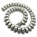 Newest!!  334g Heavy Huge Ghost Skull Waist Chain 316 Stainless Steel Hot Sale Biker Cool Man Skull Jean Chain
