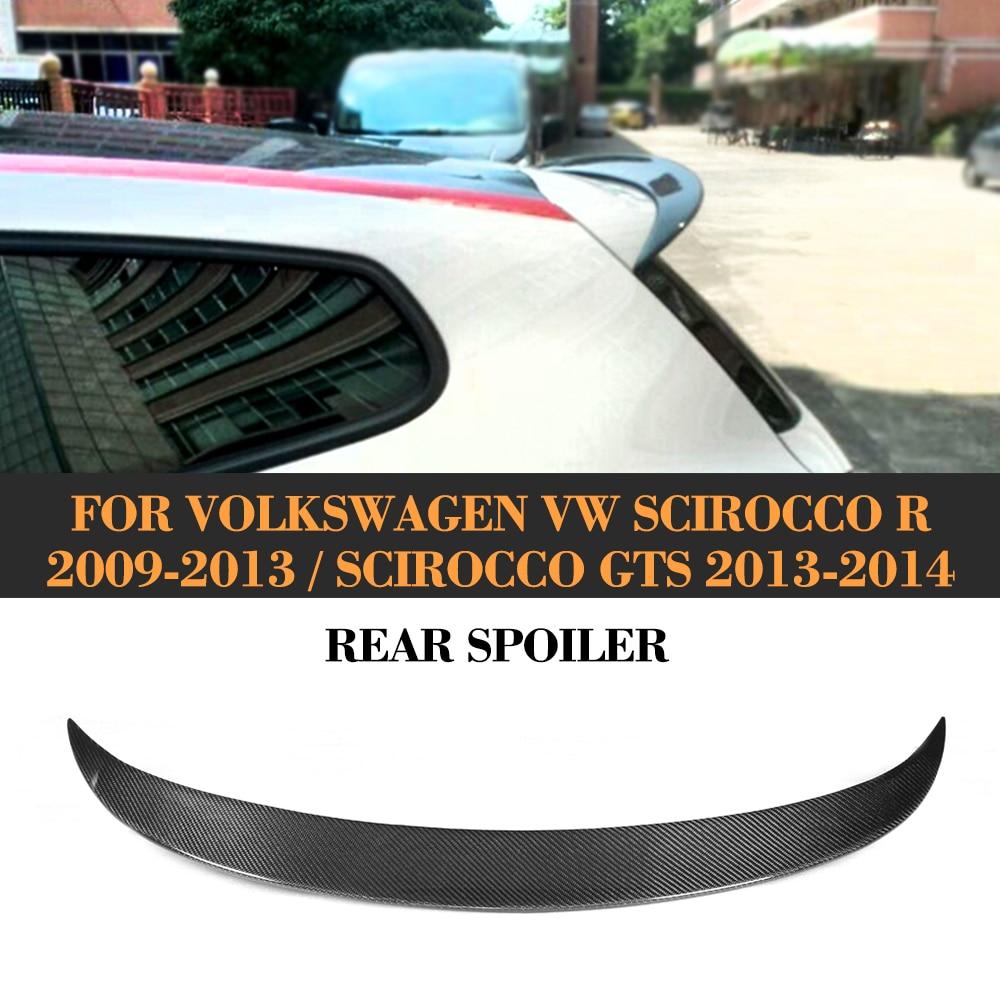 цена на Carbon Fiber Rear Roof Spoiler Wing for Volkswagen VW Scirocco R 2009-2013 Scirocco GTS 2013-2014 Non Standard