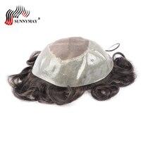 Человеческие волосы накладка из искусственных волос для мужчин Apollo, sunnymay протез, замена волос кусок Бесплатная доставка
