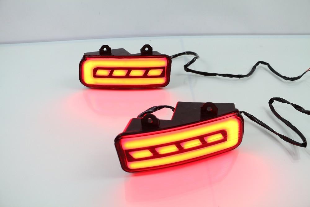 eOsuns  LED Rear Bumper Light, rear fog lamp, Brake Light, turn signals for honda crv 2012-16 with 3 or 2 functions цена
