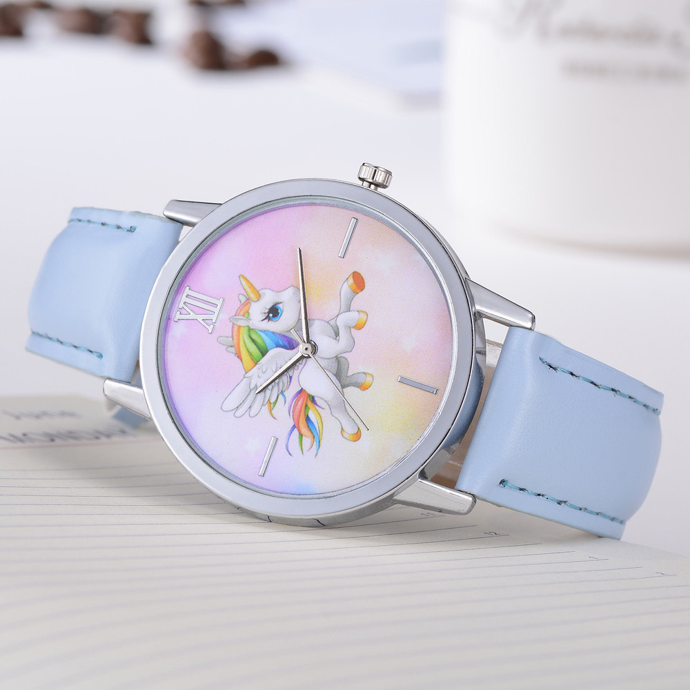 Watch Children New Fashion Cute Animal Kids Girls Students Watches Leather Band Analog Alloy Quartz WristWatch montre enfant A6 fashion cute cartoon pu band students watch