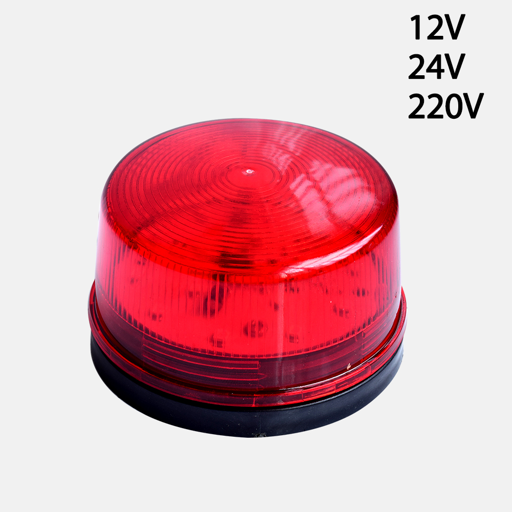 Wired Strobe Siren 12V 24V 220V Signal Warning Light Flash Siren LED Lamp Highlight Alarm Lamp for Alarm Systems Security Home 12v 24v security
