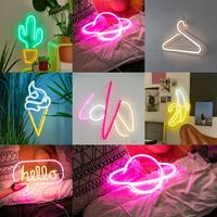 Cactus Neon Signs LED Banana Neon Light Art Wall Decorative Neon Light for Birthday Party Bar Decor Shop Window DIY Wall Hanging