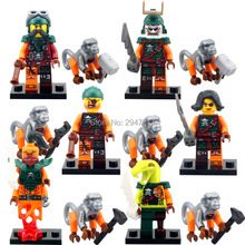 hot 6 PZ Compatibile LegoINGlys mini Pirate NinjagoINGlys figures With weapon Monkeys Building blocks Toys for children gift