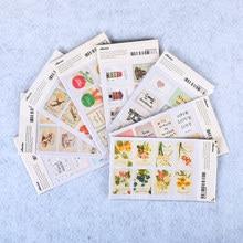 цены 64 Pcs/Lot Creative Paper Stamp Sticker Decoration Decal Diary Album Scrapbooking Envelope Seal Stationery Sticker