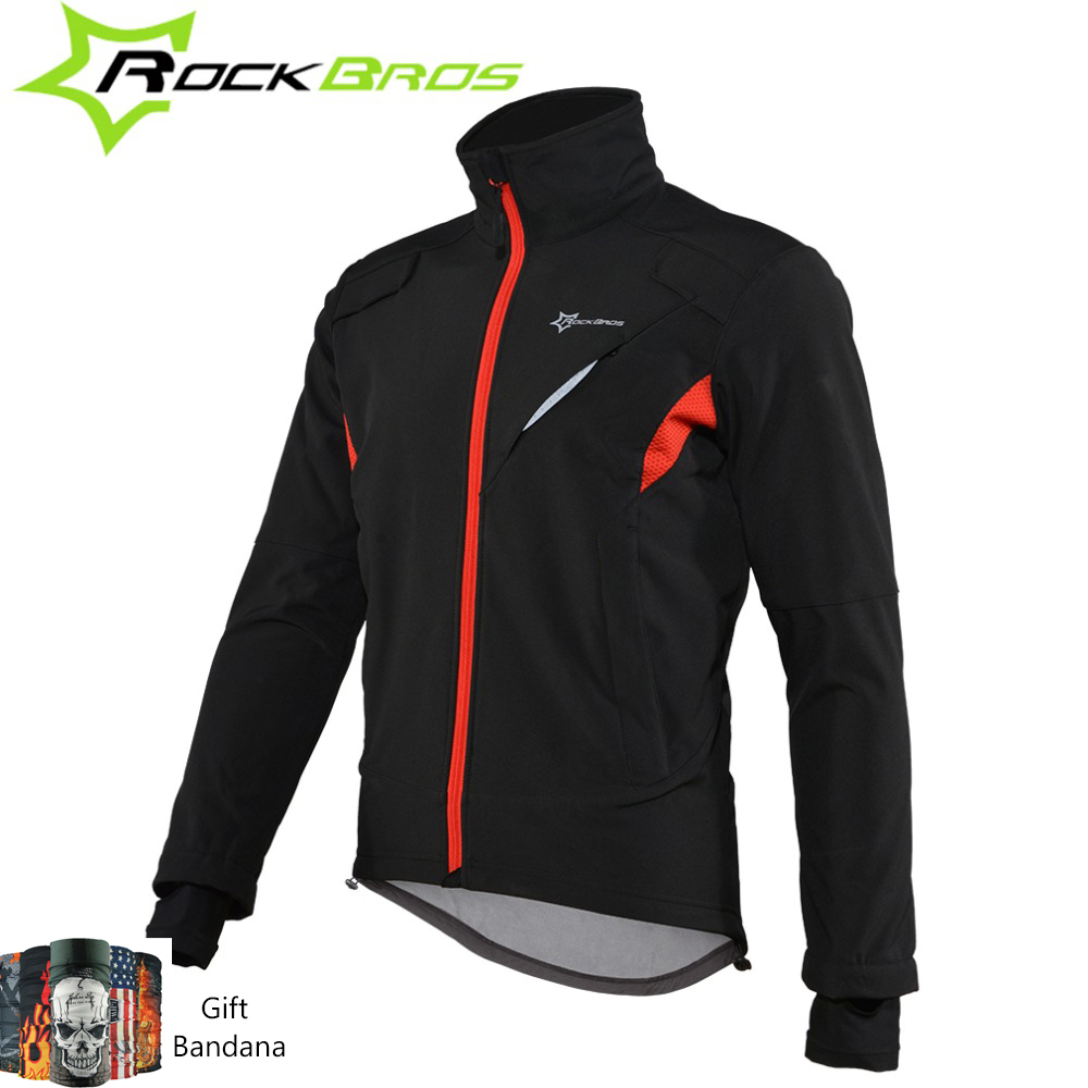 ROCKBROS Fietshoes Winter Sport Fleece Thermisch Warm Winddicht Fietsshirts Waterafstotend Reflecterend Fietsjack