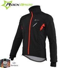 ROCKBROS Cycling Jacket Winter Sport Fleece Thermal Warm Windproof Riding Bicycle Jerseys Water Resistant Bike Reflective Jacket