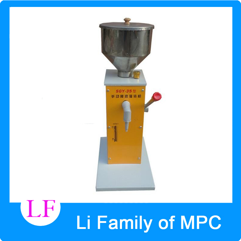 Electric PET can sealing machine Manual paste filling machine liquid filling machine cream fill machine 0 - 50ml