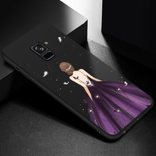 ASINA Luxury Case For Samsung Galaxy A8 2018 Beautiful Dress 3D Relief Cover A6 A7 Plus Bumpers Fundas