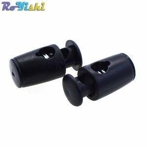 200 unids/pack plástico cable cerradura de cilindro barril clip de palanca para accesorios de prendas de vestir/bolsas/Cordón de zapato
