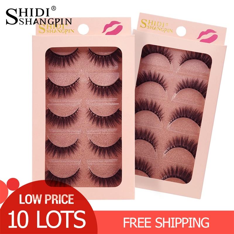 50 Pairs Mink Eyelashes Wholesale False Eyelashes Natural Mink Lashes Makeup False Lashes Wholesale Eyelash Extensions Kit
