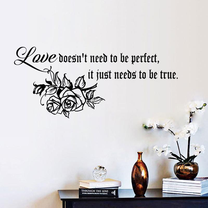 I JUST LOVE YOU Wall Decal Quote Words Lettering Decor Sticker Art Home