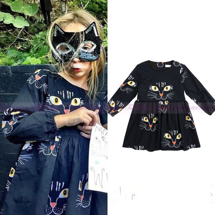 Hot girls fashion trend cute cat print