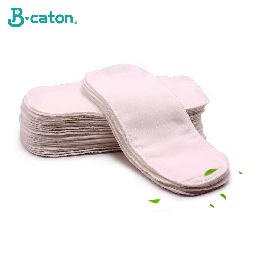 Baby Cotton Cloth Diapers Baby Diaper Reusable Washable 100% Cotton Birdseye Fabric Built-In Absorbent Cotton Thickening 35X15Cm