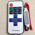 Frete grátis 12A 5 V-24 V LED Sem Fio RF Mini Remote Controladores Sem Fio RF Remoto LED Controlador Dimmer